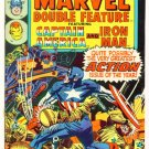 MARVEL DOUBLE FEATURE #3 Marvel Comics 1974 Captain America Iron Man