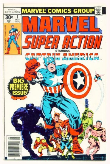 MARVEL SUPER ACTION #1 Marvel Comics 1977 Captain America