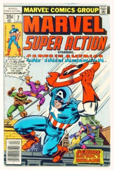 MARVEL SUPER ACTION #7 Marvel Comics 1978 Captain America