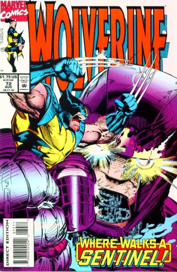 WOLVERINE #72 Marvel Comics 1993 NM