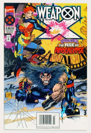 WEAPON X #1 Marvel Comics 1995 NM Wolverine Age of Apocalypse
