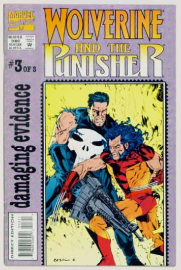 WOLVERINE PUNISHER DAMAGING EVIDENCE #3 Marvel Comics 1993