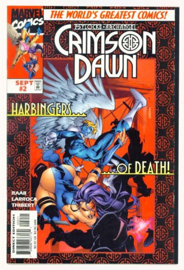 CRIMSON DAWN #2 Marvel Comics 1997 NM Psylocke and Archangel