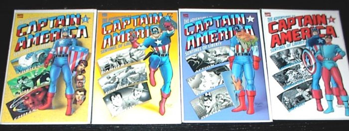 The Adventures of CAPTAIN AMERICA #1 -#4 Full Run GIANT