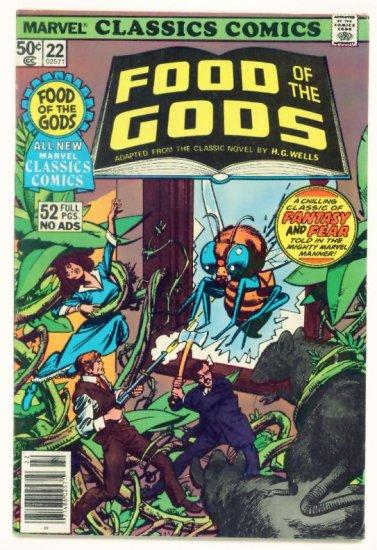 FOOD of the GODS Marvel Classics Comics #22 1977  HG Wells