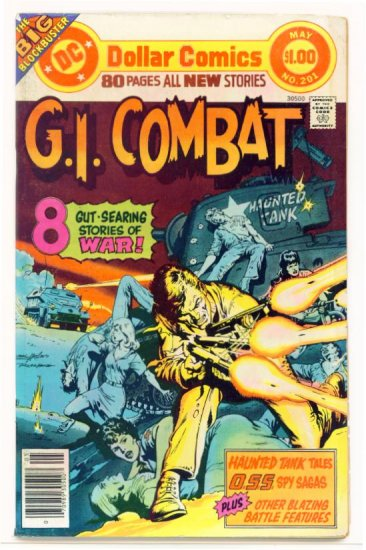 Haunted Tank G.I. COMBAT #201 DC Comics 1977 DOLLAR GIANT