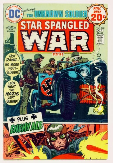 STAR SPANGLED WAR #182 DC Comics 1974 The Unknown Soldier