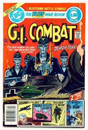 Haunted Tank G.I. COMBAT #240 DC Comics 1982 DOLLAR GIANT