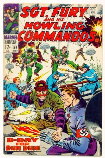 SGT. FURY and His HOWLING COMMANDOS #59 Marvel Comics 1968