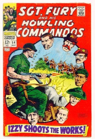 SGT. FURY and His HOWLING COMMANDOS #54 Marvel Comics 1968