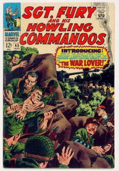 SGT. FURY and His HOWLING COMMANDOS #45 Marvel Comics 1967