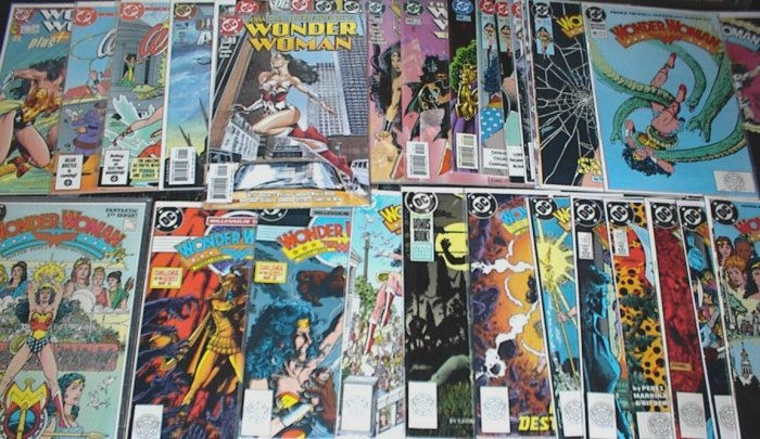 WONDER WOMAN Lot of 34 DC Comics #1 - #225 Second Series