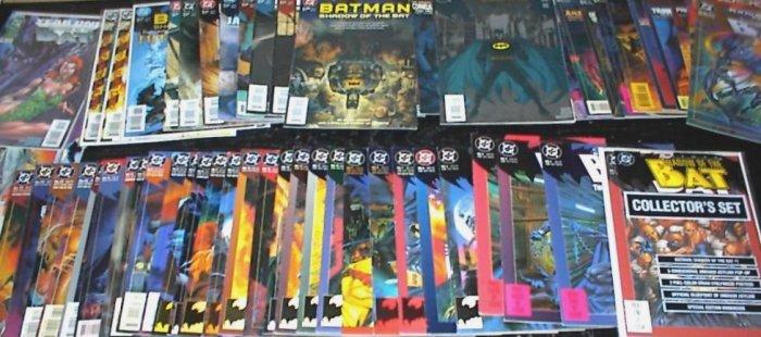 BATMAN Shadow of the Bat Lot of 56 DC Comics #1 - #65