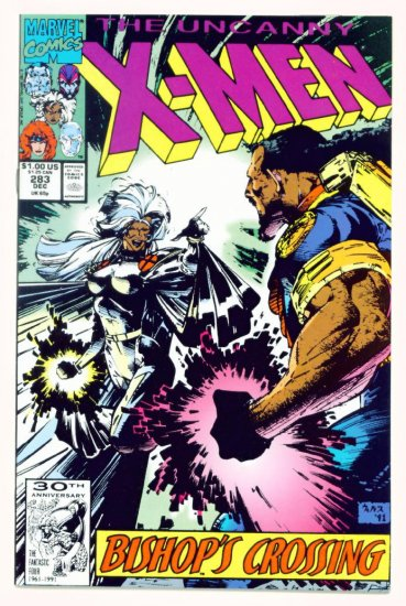 UNCANNY X-MEN #283 Marvel Comics 1991 NM Second Appearance of Bishop