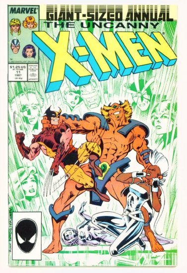 UNCANNY X-MEN ANNUAL #11 Marvel Comics 1987 NM Captain Britain