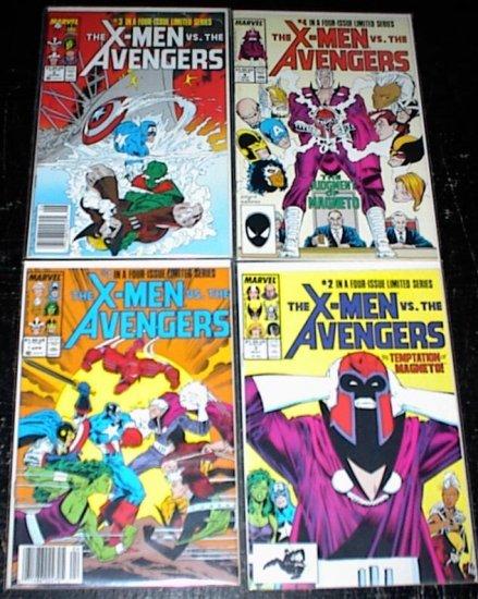 X-MEN Vs The AVENGERS #1 - #4 Full Run Marvel Comics 1987