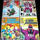 X-MEN Vs The AVENGERS #1 - #4 Full Run Marvel Comics 1987