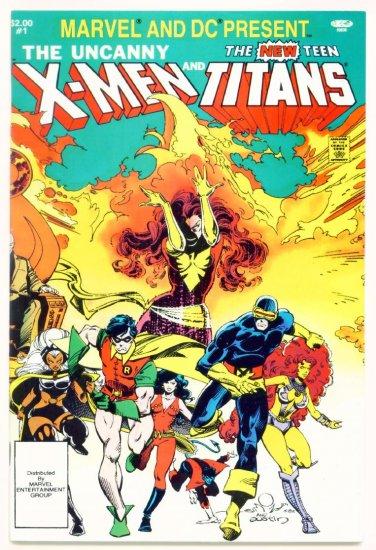 UNCANNY X-MEN and TEEN TITANS #1 DC / Marvel Comics Present 1982