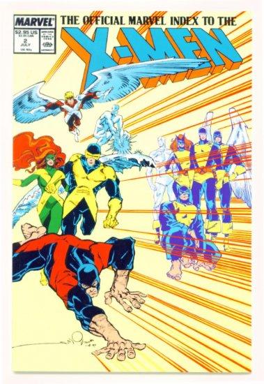 X-MEN OFFICIAL MARVEL INDEX #2 Marvel Comics 1987