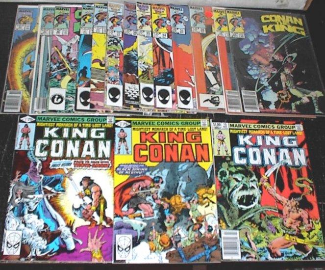 KING CONAN Lot of 16 Marvel Comics #1 - #55 Conan the Barbarian