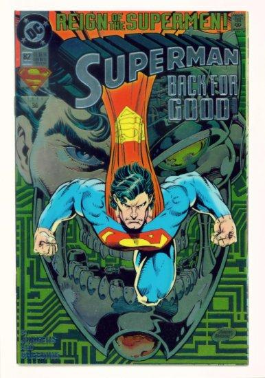 SUPERMAN #82 DC Comics 1993 NM CHROMIUM COVER