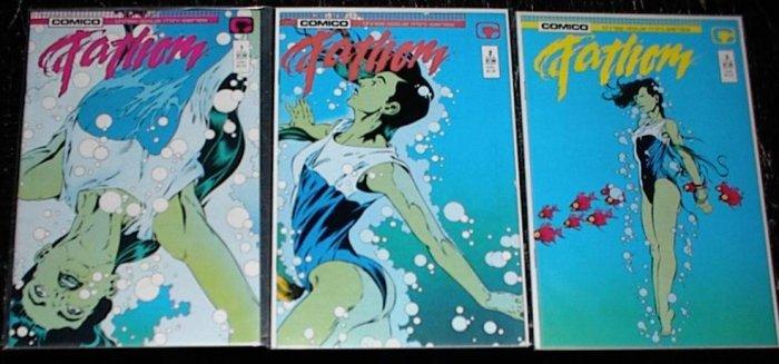FATHOM Lot of 3 Comico Comics #1- 3 Full Run 1st Series