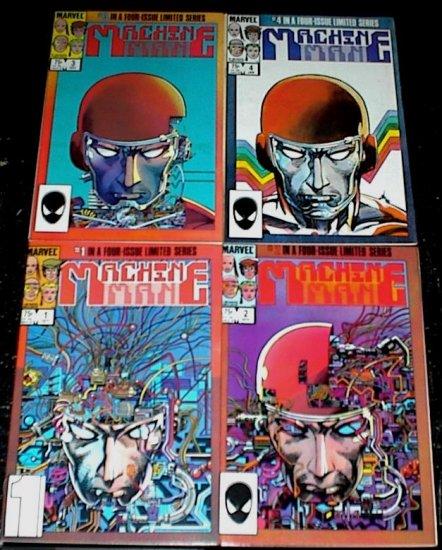 MACHINE MAN #1 - #4 Full Run Marvel Comics Barry Smith