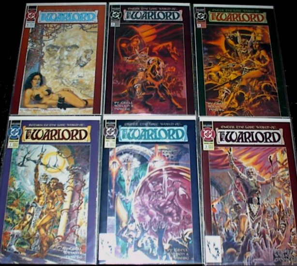 WARLORD Lot of 6 DC Comics 1992  #1 - #6 COMPLETE