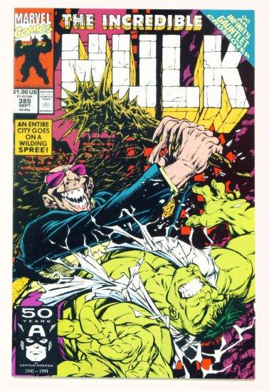INCREDIBLE HULK #385 Marvel Comics 1991 NM