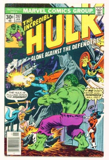 INCREDIBLE HULK #207 Marvel Comics 1977 The Defenders