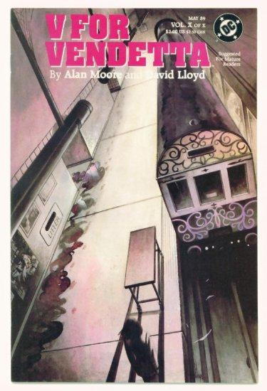 V FOR VENDETTA #10 DC Comics 1988 Alan Moore