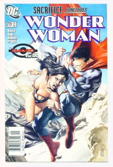 WONDER WOMAN #219 DC Comics 2005 Superman Omac Tie-In