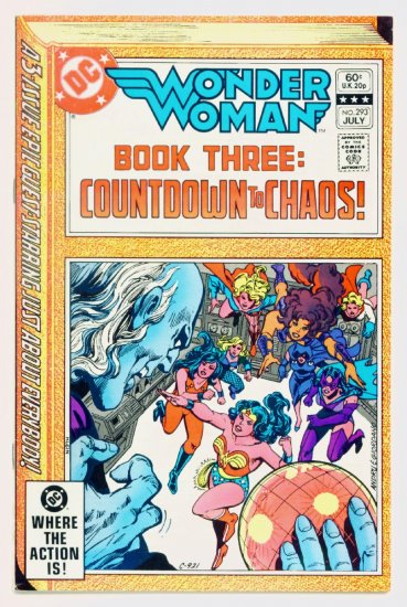 WONDER WOMAN #293 DC Comics 1982 Supergirl Huntress