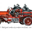 Antique Fire Apparatus Print - 1915 Mott
