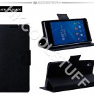 Genuine Mercury Goospery Fancy Diary Wallet Case Cover for Sony Xperia Z2 / L50w Black