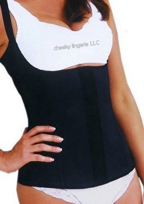 XL Black Underbust Waist Cincher Slimming Body Control Shaper Corset