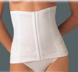 Medium White Waist Cincher Corset Slimming Tummy Control Shaper 10-12