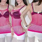 Pink Sexy FISHNET Shirt Club Wear Spaghetti Strap Stretchy Tank Top