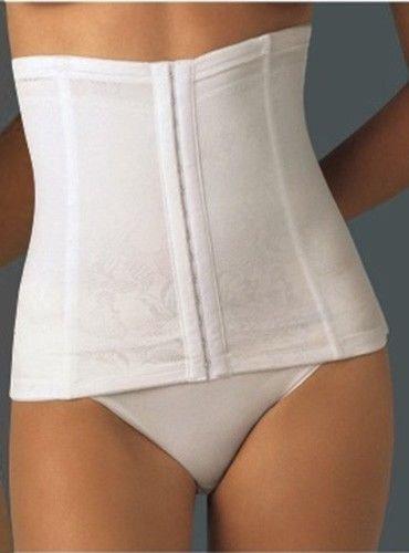 Large White Strapless Satin Waist Cincher Corset Belt Body Shaper