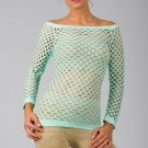 Baby Blue Sexy Fishnet Shirt Club Wear Long Sleeve GOGO Dance Top Blouse