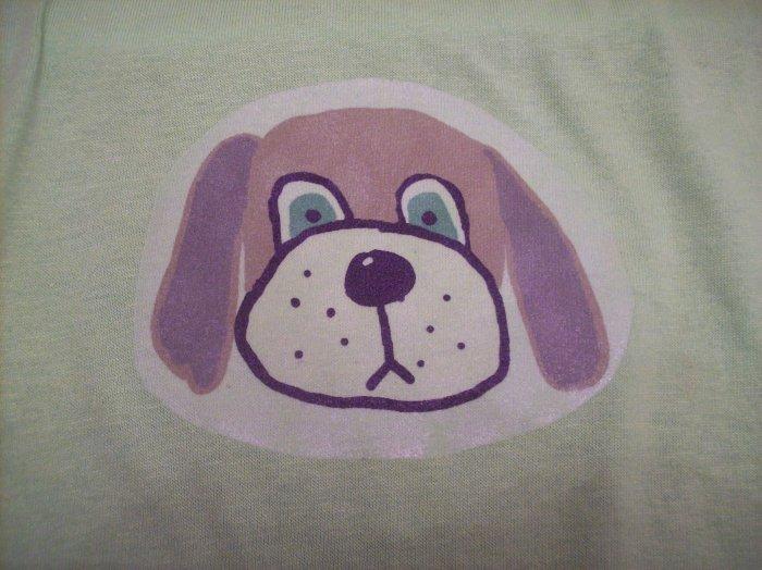 10-12, green, brown dog head