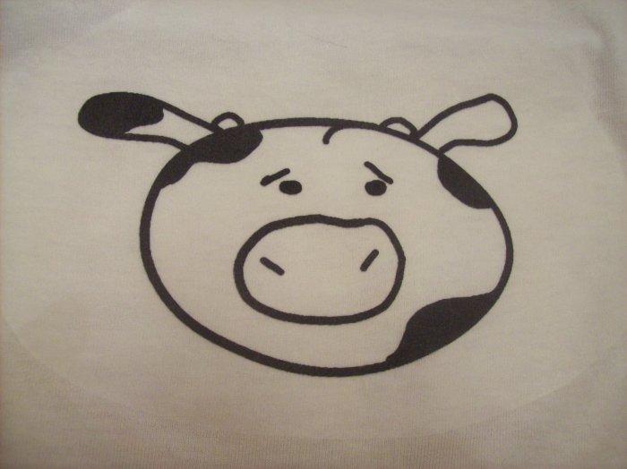2-4, white, cow face