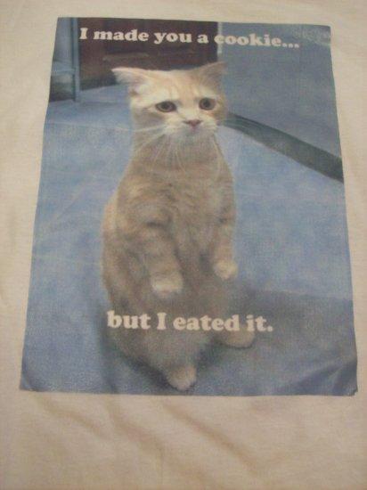 34-36, white, LOL cat - I eated it