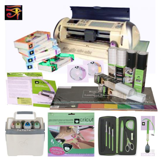 CRICUT EXPRESSION MACHINE WITH 5 CARTRIDGES BUNDLE..READY FOR GYPSY!