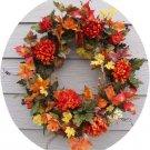 "Autumn Blaze Fall floral wreath 24"""