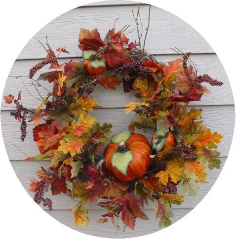 AUTUMN HARVEST #2 FALL FLORAL WREATH 26""