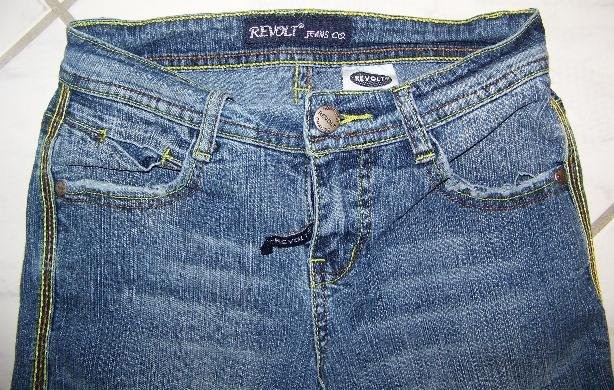 REVOLT JEANS LOW RIDER CAPRI STRETCH JUNIOR SIZE 1