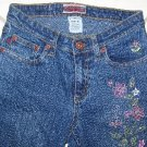 "Z CAVARICCI GIRLS STRETCH JEANS WITH FLOWER STITCHING W25""XL29"""