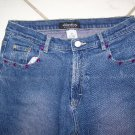"JRS/GIRLS ""XHILARATION"" STRETCH CAPRI BLUE JEANS W26xL18"""