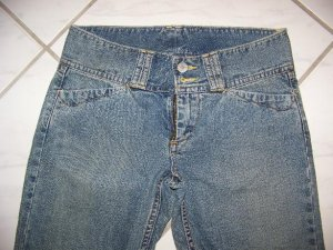 JUNIOR'S/GIRLS LUCKY BRAND LOW RIDER BLUE JEANS W28xL32